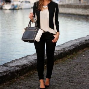 ARITZIA Wilfred Exquis Blazer Black and Cream